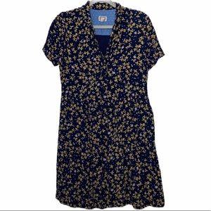 Anthropologie Mo:Vint Floral Button Down Dress
